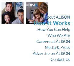 Bad formatting on Alison's site